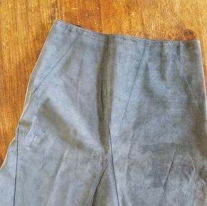 DKNY Blue Teal Suede Leather Skirt Size 8